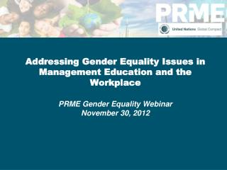 Led by the Co-Facilitators of the PRME Working Group on Gender Equality