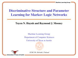 Discriminative Structure and Parameter Learning for Markov Logic Networks