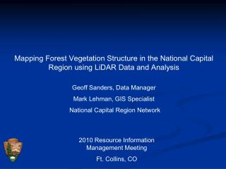 Mapping Forest Vegetation Structure in the National Capital Region using LiDAR Data and Analysis
