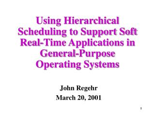 John Regehr March 20, 2001