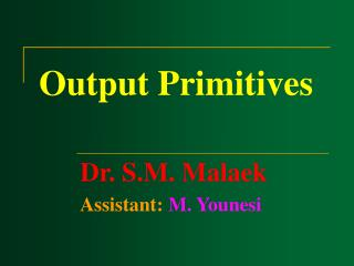 Output Primitives