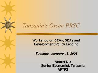 Tanzania's Green PRSC