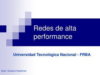 Redes de alta performance