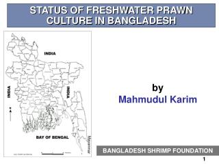 STATUS OF FRESHWATER PRAWN CULTURE IN BANGLADESH
