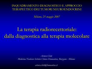 Arturo Chiti Medicina Nucleare Istituto Clinico Humanitas, Rozzano - Milano