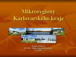 Mikroregiony Karlovarského kraje