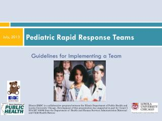 Pediatric Rapid Response Teams