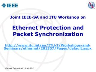 Ethernet Protection and  Packet Synchronization