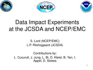 Data Impact Experiments at the JCSDA and NCEP/EMC