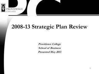 2008-13 Strategic Plan Review