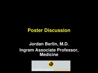 Poster Discussion