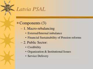 Latvia PSAL
