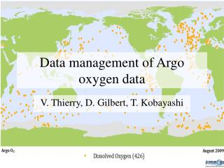 Data management of Argo oxygen data