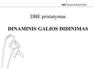 DBE pristatymas DINAMINIS GALIOS DIDINIMAS