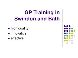 GP Training in Swindon and Bath