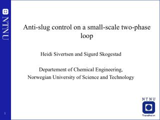 Anti-slug control on a small-scale two-phase loop