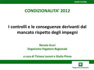CONDIZIONALITA' 2012