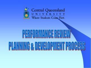 PERFORMANCE REVIEW  PLANNING & DEVELOPMENT PROCESS