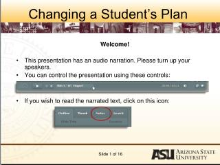 Changing a Student's Plan