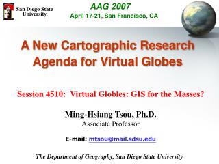 Impacts of Virtual Globes for  Modern Cartography Research