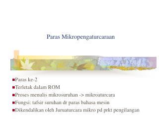 Paras Mikropengaturcaraan