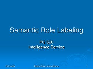 Semantic Role Labeling