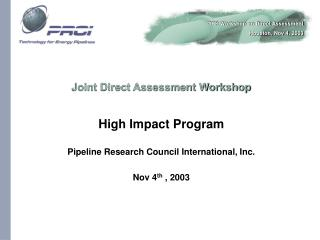 Joint Direct Assessment Workshop