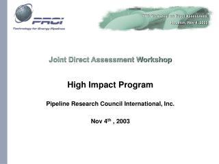 Joint Direct Assessment Workshop