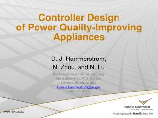 Controller Design of Power Quality-Improving Appliances