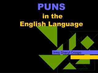 PUNS     in the  English Language