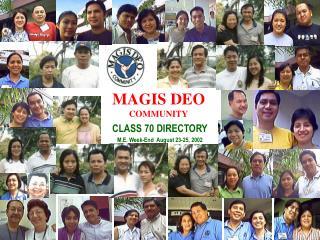 MAGIS DEO  COMMUNITY