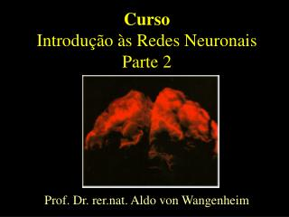 Curso Introdução às Redes Neuronais Parte 2