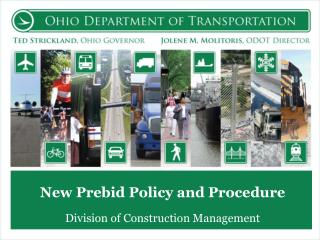 New Prebid Policy and Procedure