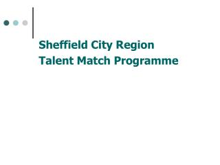 Sheffield City Region Talent Match Programme
