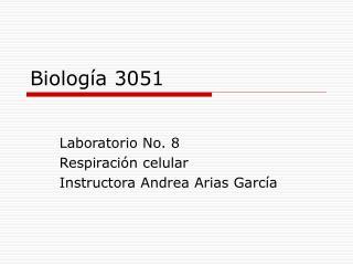 Biolog�a 3051
