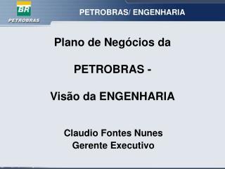 Plano de Negócios da  PETROBRAS -  Visão da ENGENHARIA