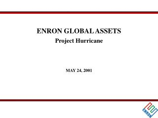 ENRON GLOBAL ASSETS Project Hurricane MAY 24, 2001
