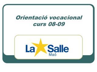 Orientaci� vocacional curs 08-09