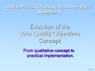 From qualitative concept to practical implementation.