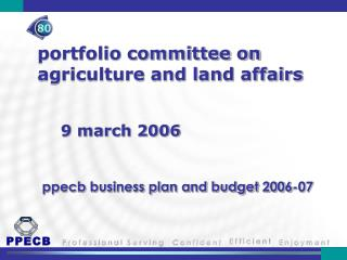 portfolio committee on agriculture and land affairs