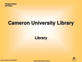 Cameron University Library