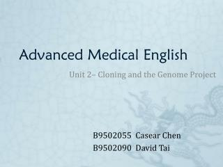 Advanced Medical English
