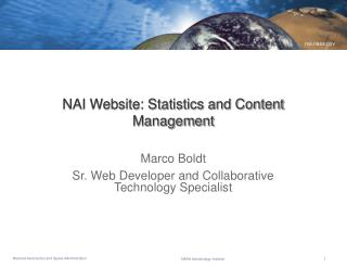 NAI Website: Statistics and Content Management