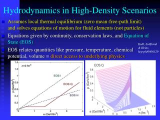 Hydrodynamics in High-Density Scenarios