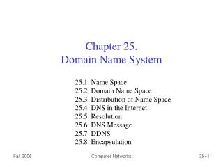 Chapter 25. Domain Name System