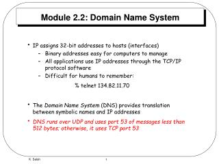 Module 2.2: Domain Name System