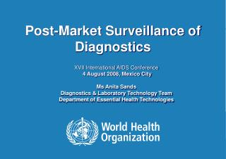 Post-Market Surveillance of Diagnostics