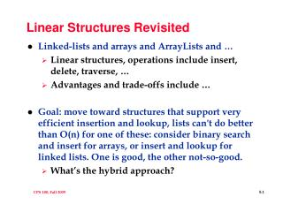 Linear Structures Revisited