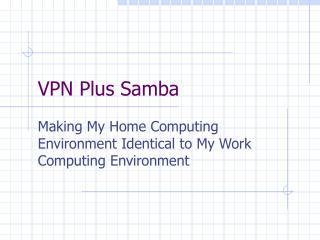 VPN Plus Samba