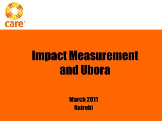 Impact Measurement and Ubora